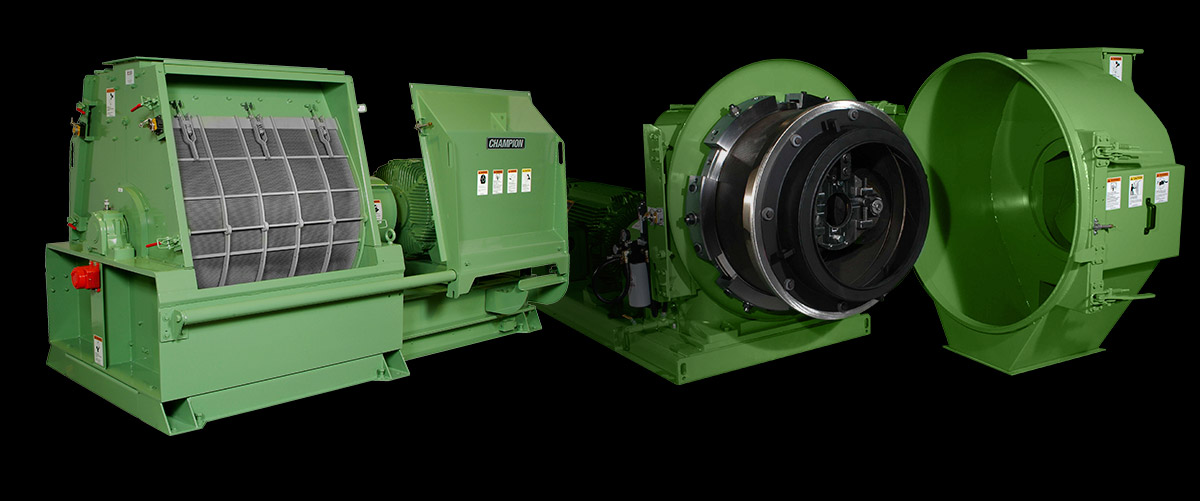 A Champion Hammermill and CPM Pellet Mill