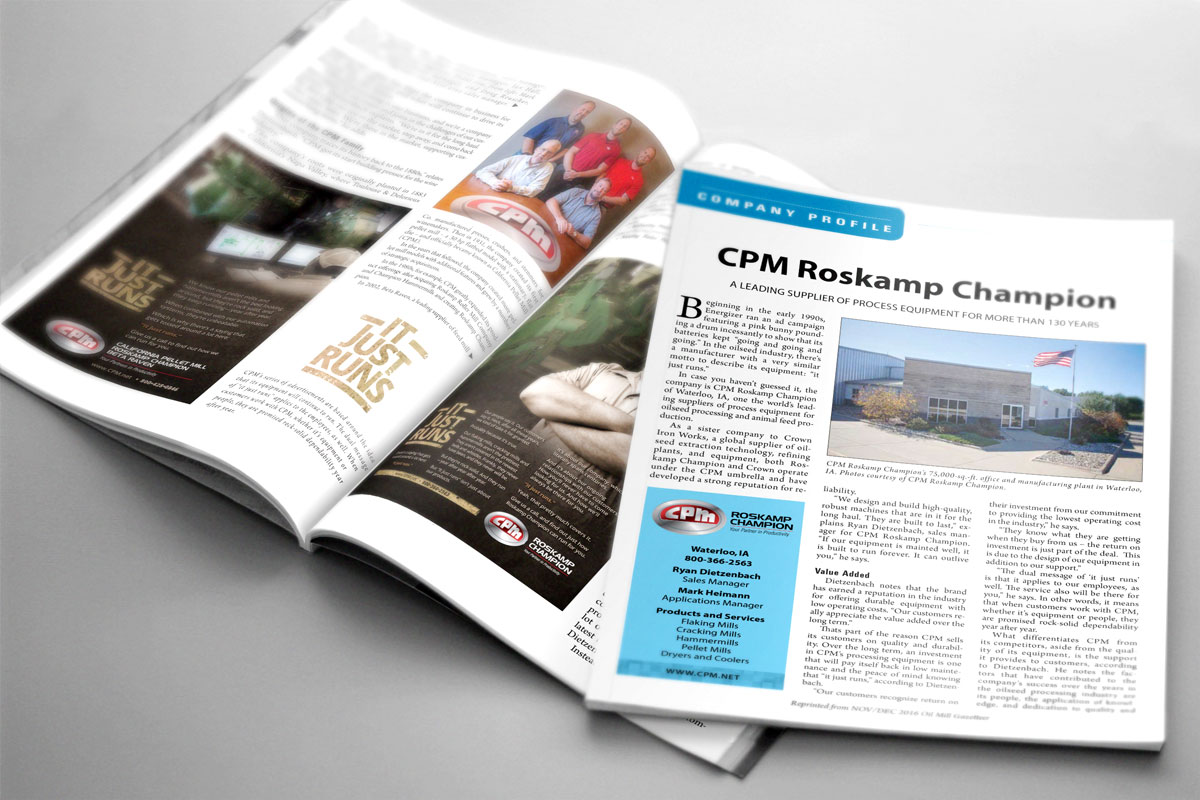 IMAGE - CPM Roskamp Champion Profiled in <i>Oil Mill Gazetteer</i>