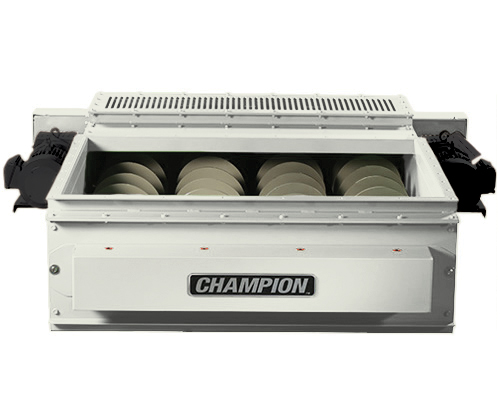 Champion Variable Screw Feeders improve the flow characteristics of material into your hammermill.